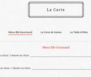 Carte de Restaurant Agence Imprimerie Site Web En Ligne